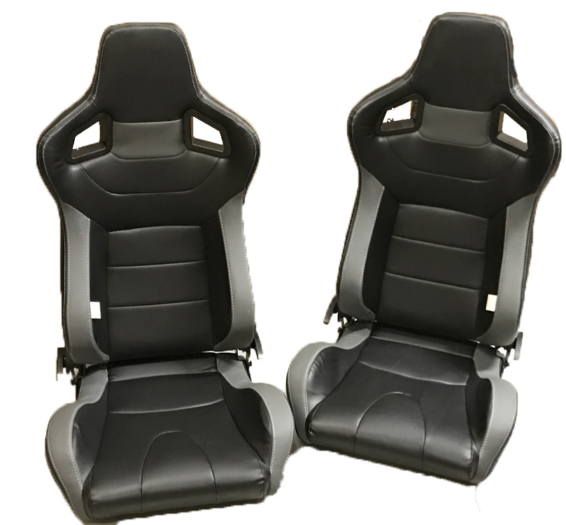 universal black and red reclining sports seats for classic cars. Black Bedroom Furniture Sets. Home Design Ideas