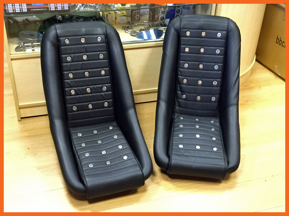 Vintage Auto Seats : Universal black bb racing clubman with inserts seats for